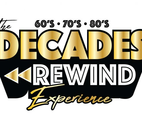 greatest hits of the 60s, 70s, and 80s live show decades rewind logo