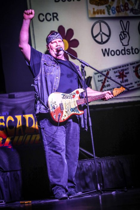 guitarist for nostalgia music concert decades rewind